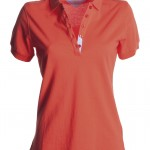 polo femme glamour hot coral high