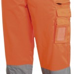 pantalon haute visibilite biker orange