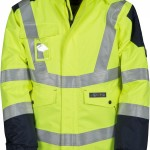 veste haute visibilite shield giallo fluo blu navy high