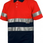 polo haute visibilite orange c3867