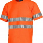 t shirt haute visibilite orange c3945