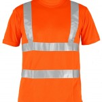 tee shirt haute visibilite avenue orange