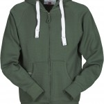 sweat homme full zip dallas vert