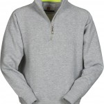 sweat homme miami demi zip gris
