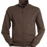 sweat unisexe full zip havana marron