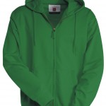 sweat homme full zip capuche hawai vert