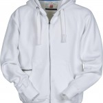 sweat homme full zip dallas blanc