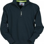sweat homme miami demi zip marine
