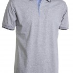polo homme cambridge manches courtes gris chin