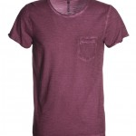 tee shirt homme discovery pocket burgundy cool high