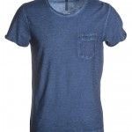 tee shirt homme discovery pocket denim blu high