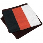 drap de plage ray   velours orange
