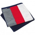 drap de plage ray   velours rouge