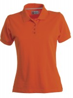 polo femme venice lady manches courtes orange