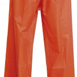 pantalon pluie set nylon pants orange high