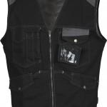 gilet sans manches epi tucson black grey high