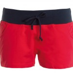 short femme volley rosso blu navy high