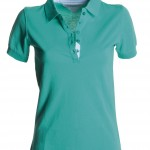 polo femme glamour emerald green high