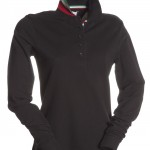 polo femme long nation lady nero high