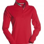 polo femme long nation lady rosso 2 high