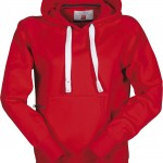 sweat femme capuche atlanta lady rosso high
