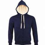 sweat homme capuche sherpa 00584 french navy a