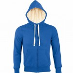 sweat homme capuche sherpa 00584 royal blue a