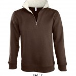 sweat homme zip scott 47300 chocolate rope a